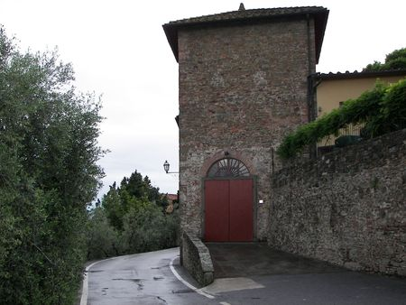 proclaimed: The old village of Artimino from Central Italy the medieval gate