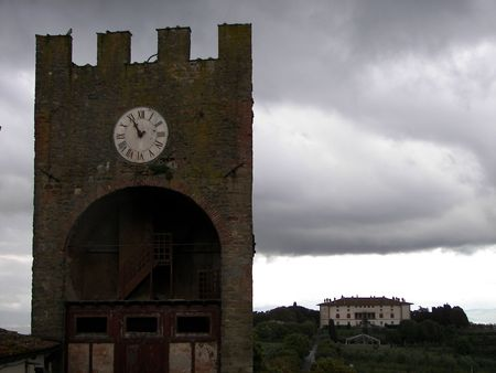 The old village of Artimino from Central Italy the medieval tower