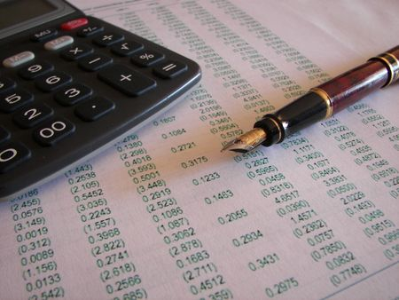 autograph: Business forecasting Stock Photo