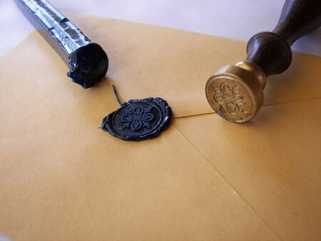 varnish seal to close the envelope