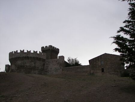 Populonia castle from central Italy photo