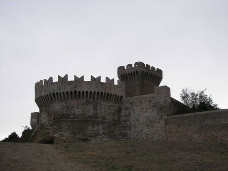 Populonia castle from central Italy
