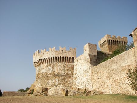 The castle tower Populonia photo