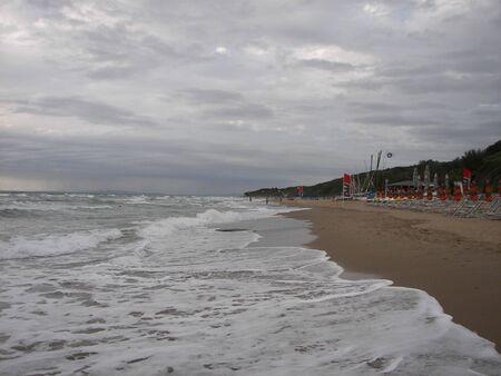 Waves on the beach photo
