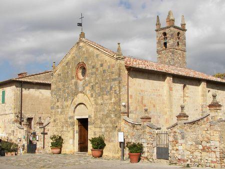 The church of Monteriggioni Stock Photo