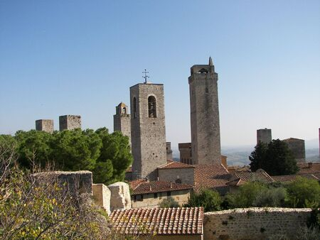 The towers of San Gimignano Tuscany photo
