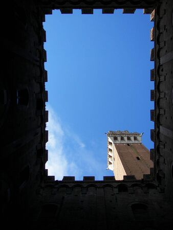 The Mangia Tower in Siena photo