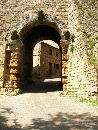 etruscan: Etruscan door in Volterra