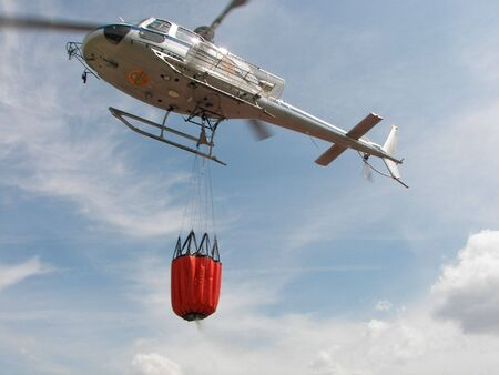 Helicopter service fire Stock Photo