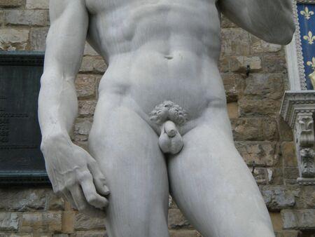 The David by Michelangelo Buonarroti Stock Photo