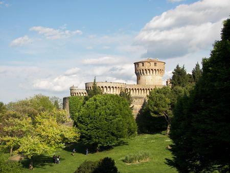 collina: La fortezza di Volterra Stock Photo