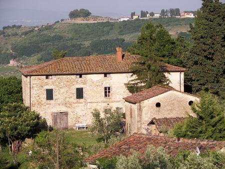 Casa Colonica in Toscana  Archivio Fotografico