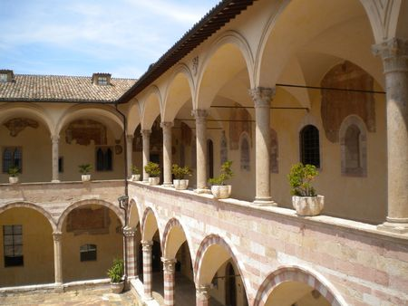 convento: convento il chiostro Stock Photo