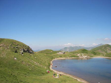 Lake Scaffaiolo Stock Photo