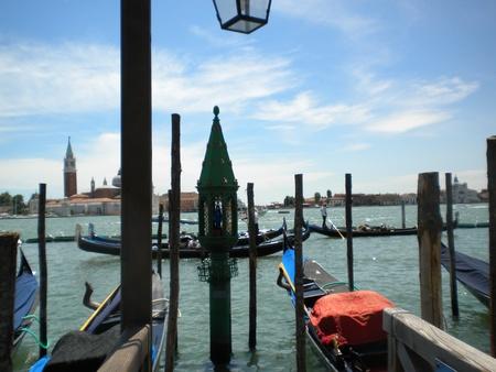 The gondolas of Venice Stock Photo