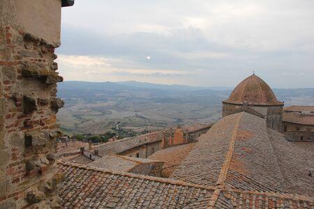 Dome of a baptistry, Baptistery of St. John, Volterra, Province of Pisa, Tuscany, Italy