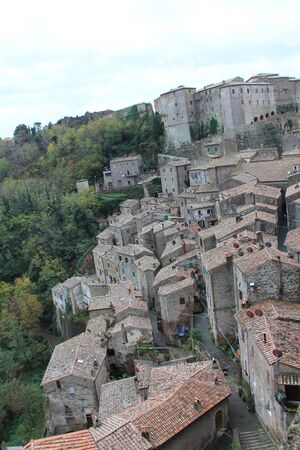 Sorano fortified medieval village in southern Tuscany