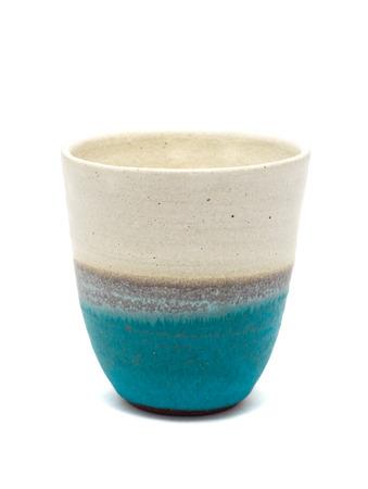 Japanese Sake drinking glass isolated on a white background.