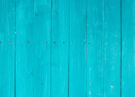 Blue wood plank wall texture or background Stock Photo