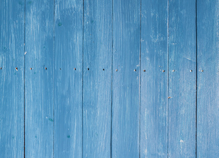 Country blue wooden table background or texture