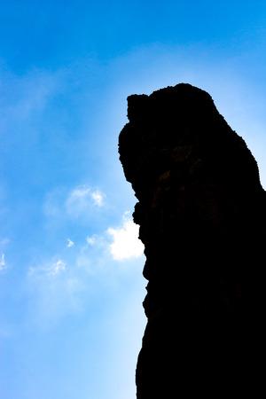 Silhouette , Pha Chor canyon in Maewang National Park, Chiang Mai