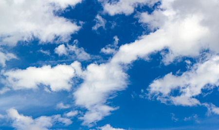 Blue Sky Background with white tiny clouds. Banque d'images
