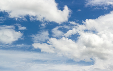 Blue Sky Background with white tiny clouds. 版權商用圖片
