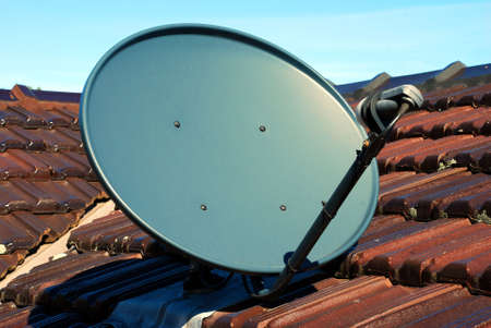 A close up of a Satellite Dish Stock Photo