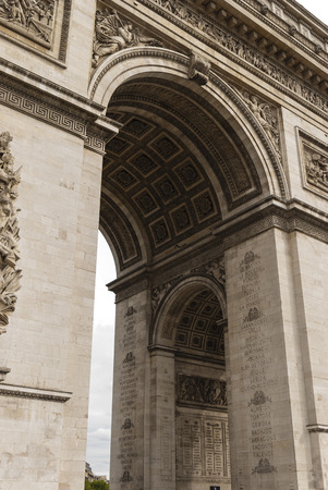 Arc De Triomphe in close Detail Stock Photo