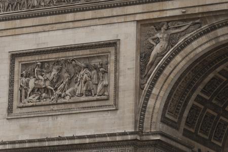 The Arc De Triomphe in close Detail