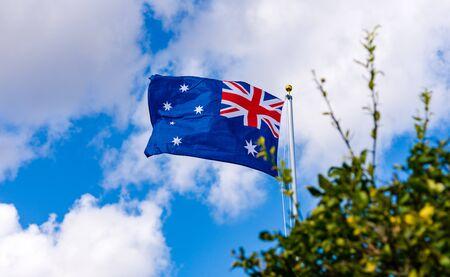 Australian Flag on a Flag Pole