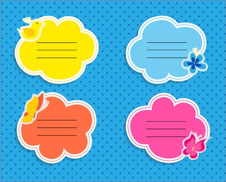 Cute frames collection illustration Vector