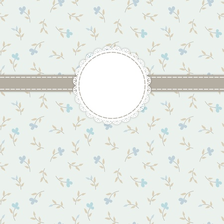 pastel background: Retro invitation card