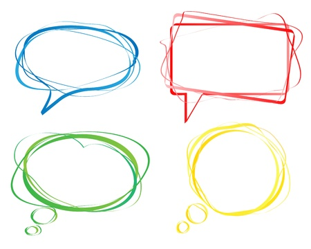 message bubble: Set of colorful speech bubbles