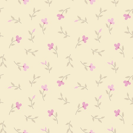 subdued: seamless vector pattern with flowers  Illustration
