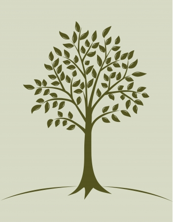 Tree illustration Stock Vector - 13801554