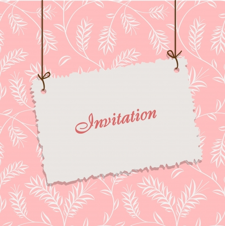 Vintage card design for greeting card, invitation, menu, cover    Vector