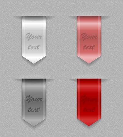 Colored ribbons Vector