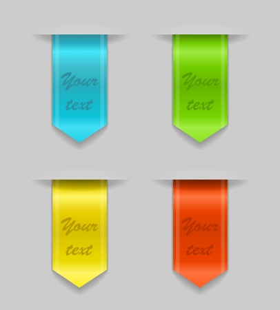 set of colored ribbons Illustration