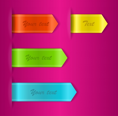 Vector set of colored ribbons Vector