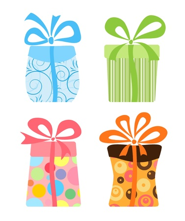 brown box: Set of cute gift boxes
