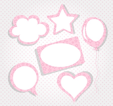 Collection of pink frames Vector