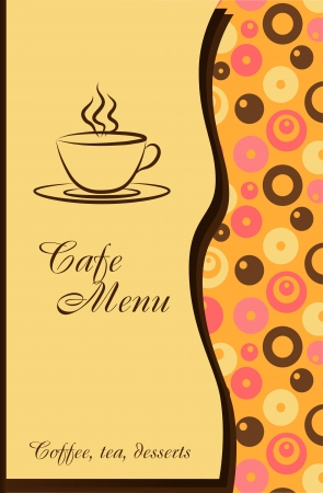 Design of a cafe menu Vector