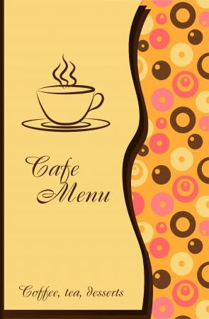 elegância: Projeto de um menu de caf Ilustração