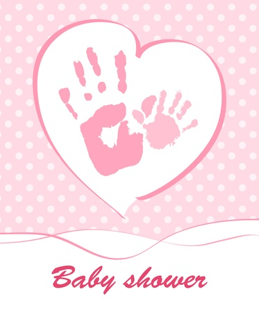 Baby shower card Stock Vector - 14192599