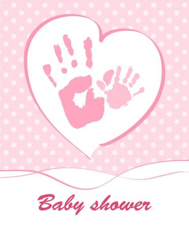 handprint: Baby shower card