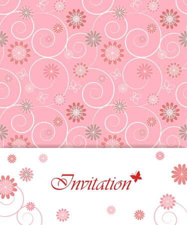 Floral card design for greeting card, invitation, menu, cover... Vector