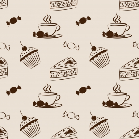 Sweet seamless pattern Vector