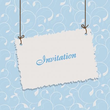 opening party: El dise�o de la tarjeta azul vintage para tarjetas de felicitaci�n, invitaciones, men�, la cubierta