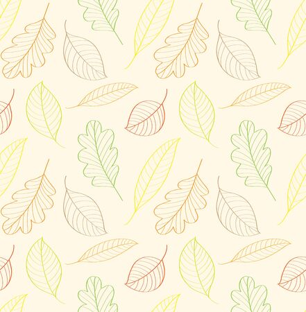 autumn leaves, seamless pattern Vector